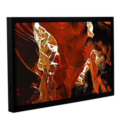 Brushstone Slot Canyon Light From Above 6 GalleryWrapped Floater-Framed Canvas Wall Art