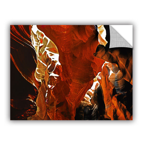 Brushstone Slot Canyon Light From Above 6 Removable Wall Decal