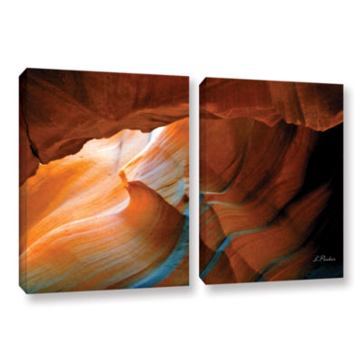 Brushstone Slot Canyon V 2-pc. Gallery Wrapped Canvas Wall Art