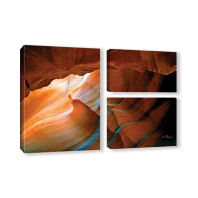 Brushstone Slot Canyon V 3-pc. Flag Gallery Wrapped Canvas Wall Art