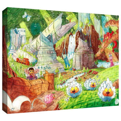 Brushstone Sheep Forest Gallery Wrapped Canvas Wall Art