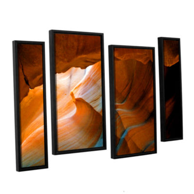 Brushstone Slot Canyon V 4-pc. Floater Framed Staggered Canvas Wall Art