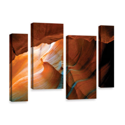 Brushstone Slot Canyon V 4-pc. Gallery Wrapped Staggered Canvas Wall Art