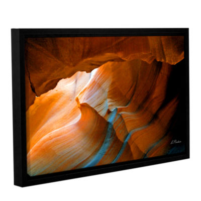 Brushstone Slot Canyon V Gallery Wrapped Floater-Framed Canvas Wall Art