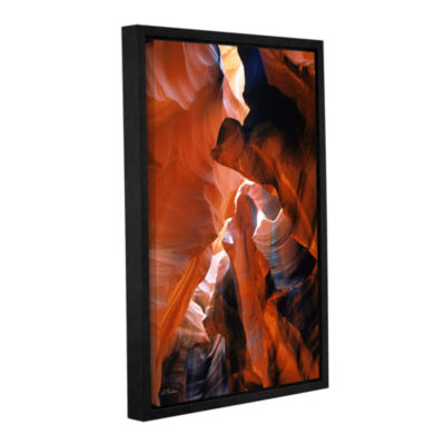 Brushstone Slot Canyon VI Gallery Wrapped Floater-Framed Canvas Wall Art