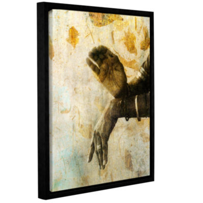 Brushstone Sacred Mudra Gallery Wrapped Floater-Framed Canvas Wall Art