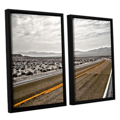 Brushstone Slow Curves 2-pc. Floater Framed CanvasWall Art
