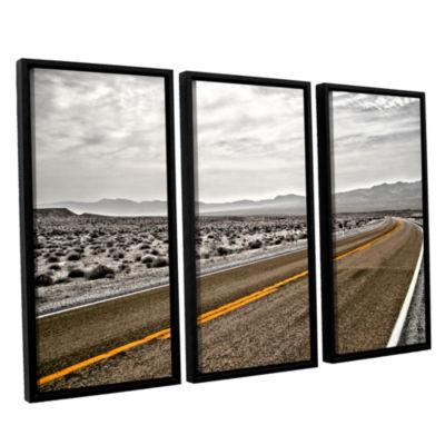 Brushstone Slow Curves 3-pc. Floater Framed CanvasWall Art