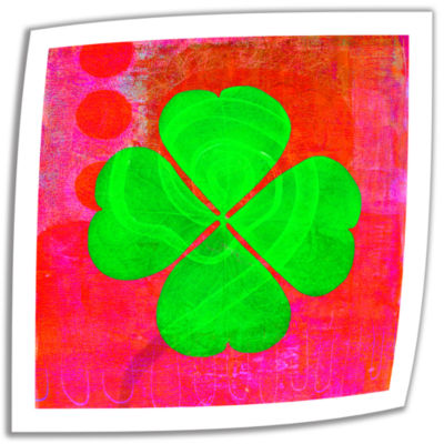 Brushstone Shamrock Canvas Wall Art