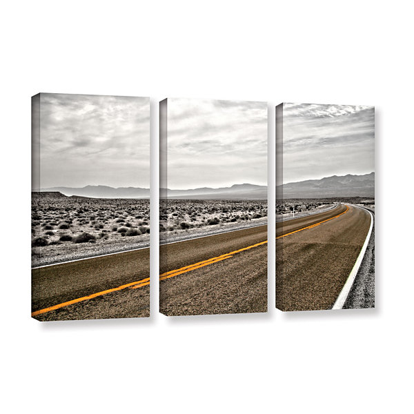 Brushstone Slow Curves 3-pc. Gallery Wrapped Canvas Wall Art