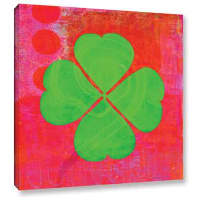 Brushstone Shamrock Gallery Wrapped Canvas Wall Art
