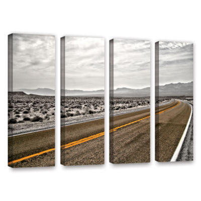 Brushstone Slow Curves 4-pc. Gallery Wrapped Canvas Wall Art