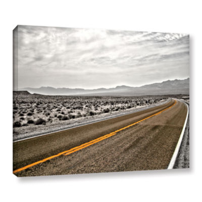 Brushstone Slow Curves Gallery Wrapped Canvas WallArt