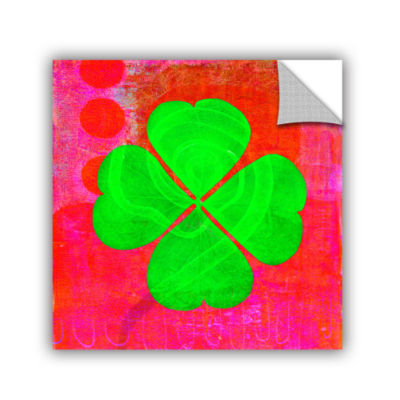 Brushstone Shamrock Removable Wall Decal