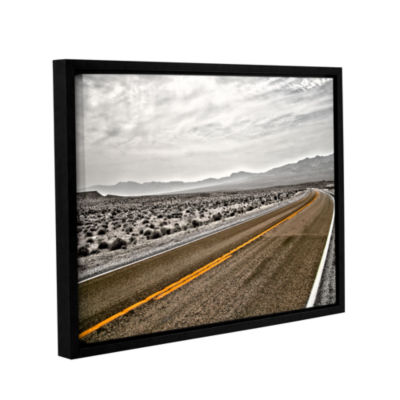 Brushstone Slow Curves Gallery Wrapped Floater-Framed Canvas Wall Art