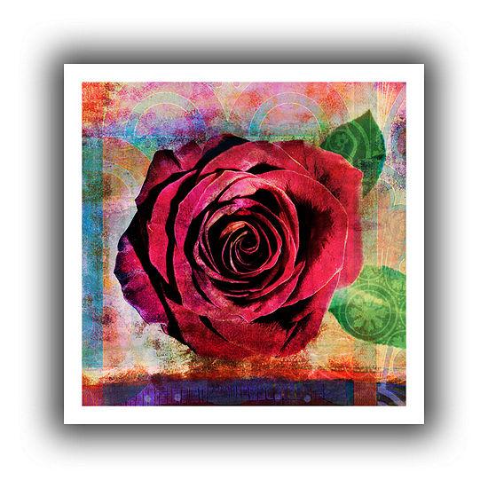 Brushstone Rose Canvas Wall Art