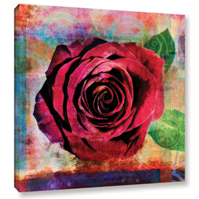 Brushstone Rose Gallery Wrapped Canvas Wall Art