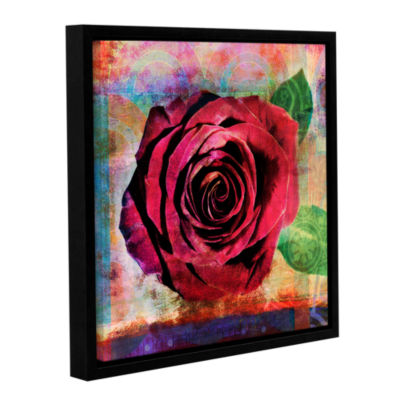Brushstone Rose Gallery Wrapped Floater-Framed Canvas Wall Art