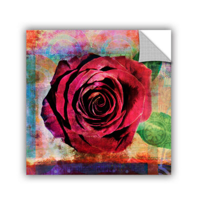 Brushstone Rose Removable Wall Decal
