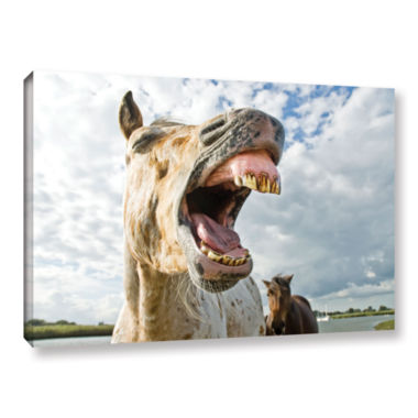 Brushstone Smile Big Gallery Wrapped Canvas Wall Art