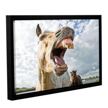 Brushstone Smile Big Gallery Wrapped Floater-Framed Canvas Wall Art