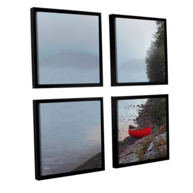Brushstone Smoke On The Water 4-pc. Square FloaterFramed Canvas Wall Art