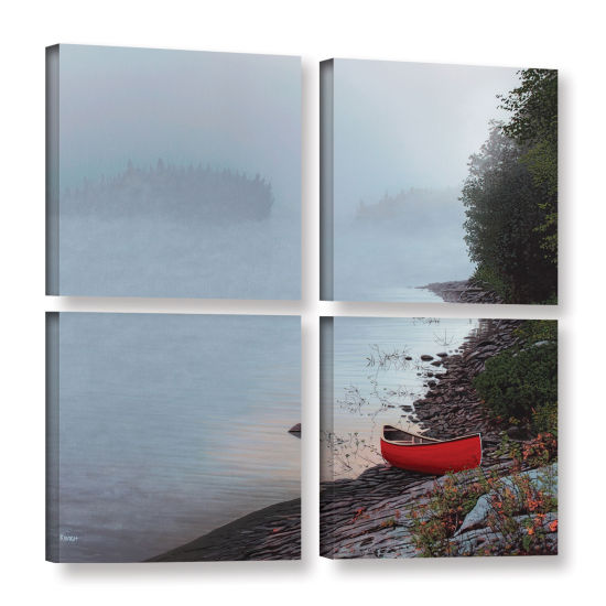 Brushstone Smoke On The Water 4-pc. Square GalleryWrapped Canvas Wall Art