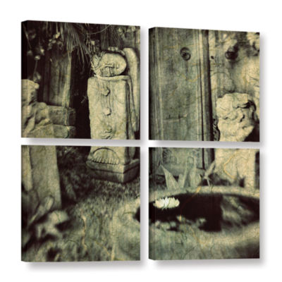 Brushstone Sculpture Garden 4-pc. Square Gallery Wrapped Canvas Wall Art