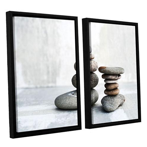 Brushstone Sea Stones 2-pc. Floater Framed CanvasWall Art