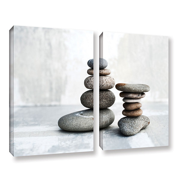 Brushstone Sea Stones 2-pc. Gallery Wrapped CanvasWall Art