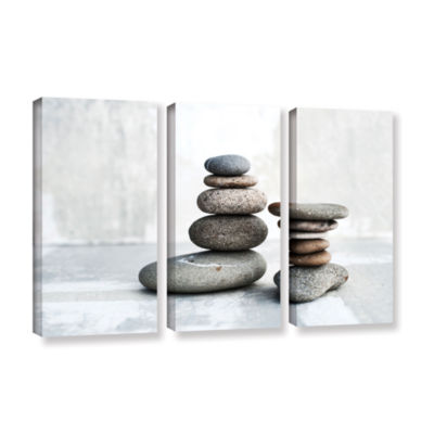 Brushstone Sea Stones 3-pc. Gallery Wrapped CanvasWall Art