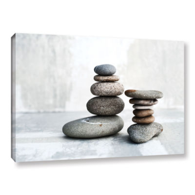 Brushstone Sea Stones Gallery Wrapped Canvas WallArt