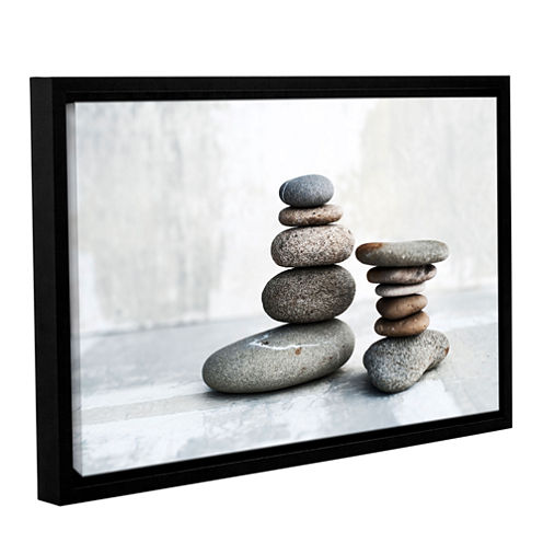 Brushstone Sea Stones Gallery Wrapped Floater-Framed Canvas Wall Art