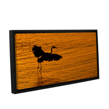 Brushstone Smooth Landing In Morning Glow GalleryWrapped Floater-Framed Canvas Wall Art