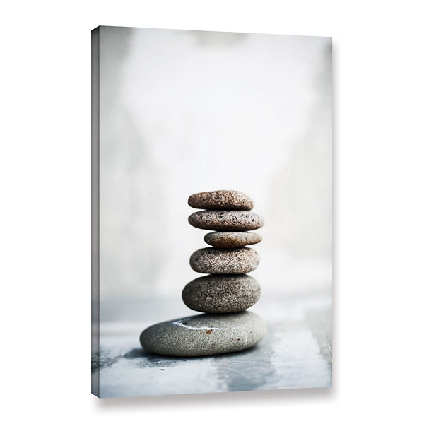 Brushstone Sea Stones 2 Gallery Wrapped Canvas Wall Art