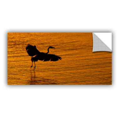 Brushstone Smooth Landing In Morning Glow Removable Wall Decal