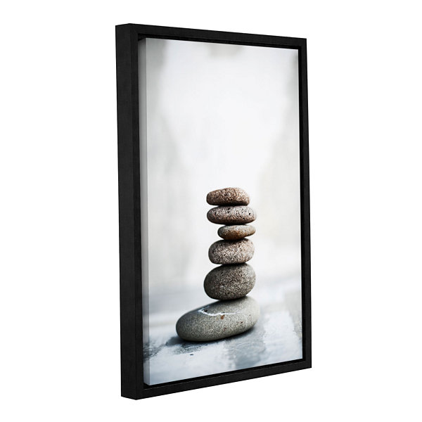 Brushstone Sea Stones 2 Gallery Wrapped Floater-Framed Canvas Wall Art