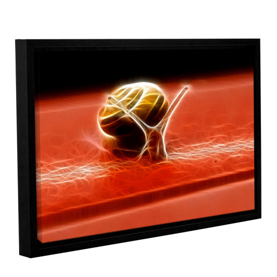 Brushstone Snail Gallery Wrapped Floater-Framed Canvas Wall Art