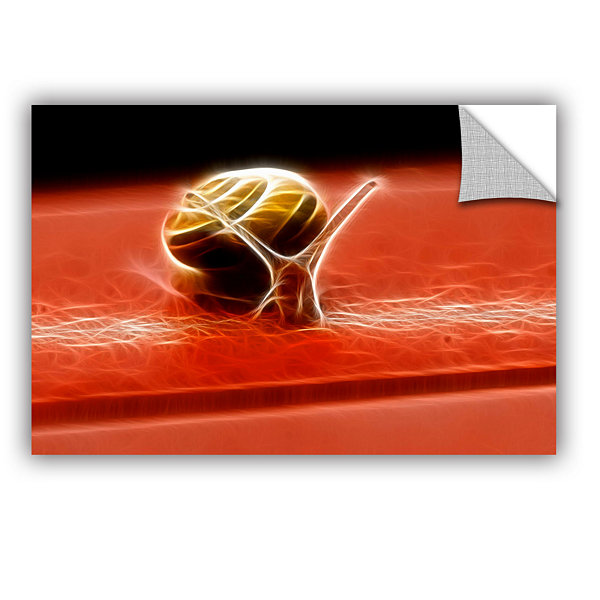 Brushstone Snail Removable Wall Decal