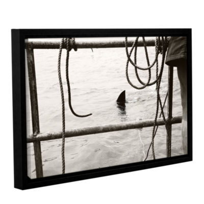 Brushstone Sneaky Shark Gallery Wrapped Floater-Framed Canvas Wall Art