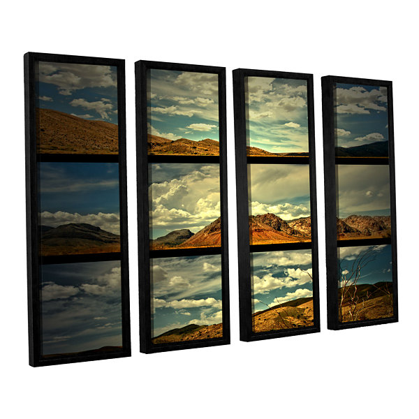 Brushstone Saving Skys 4-pc. Floater Framed CanvasWall Art