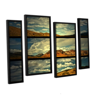 Brushstone Saving Skys 4-pc. Floater Framed Staggered Canvas Wall Art