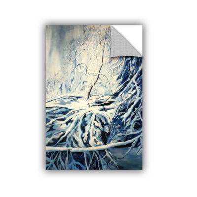 Brushstone Snow Blue Removable Wall Decal