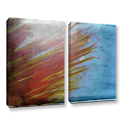 Brushstone Secondary Sun 2-pc. Gallery Wrapped Canvas Wall Art