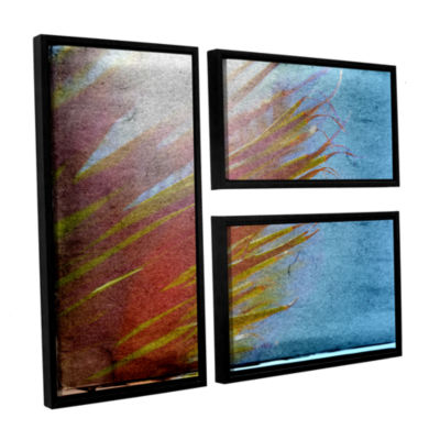 Brushstone Secondary Sun 3-pc. Flag Floater FramedCanvas Wall Art