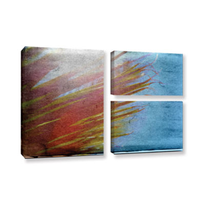 Brushstone Secondary Sun 3-pc. Flag Gallery Wrapped Canvas Wall Art
