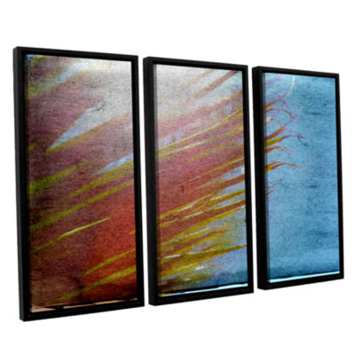 Brushstone Secondary Sun 3-pc. Floater Framed Canvas Wall Art