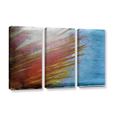 Brushstone Secondary Sun 3-pc. Gallery Wrapped Canvas Wall Art