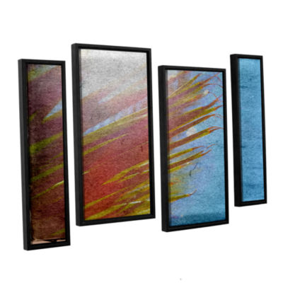 Brushstone Secondary Sun 4-pc. Floater Framed Staggered Canvas Wall Art