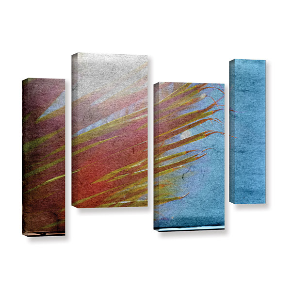 Brushstone Secondary Sun 4-pc. Gallery Wrapped Staggered Canvas Wall Art